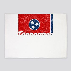 Tennessee State Flag Statehood Day 5'x7'Area Rug
