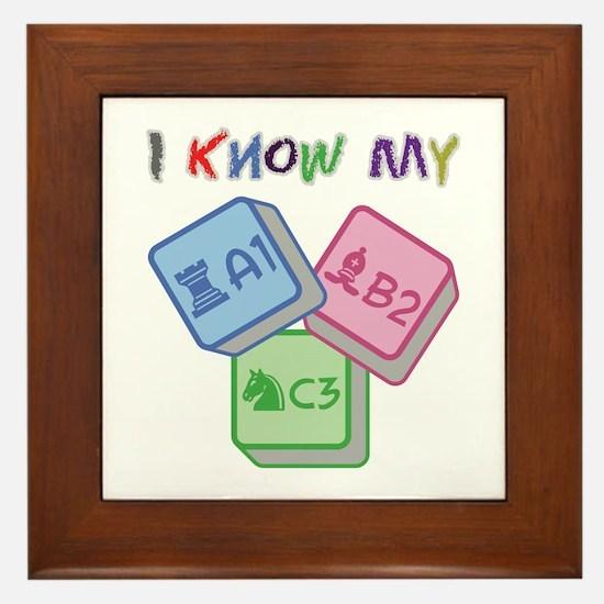 I Know My ABC Framed Tile