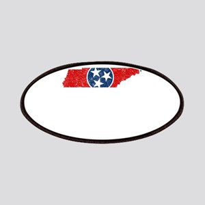 Tennessee State Flag Patriotic State Shaped Patch