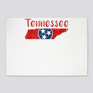 Tennessee State Flag Patriotic Stat 5'x7'Area Rug