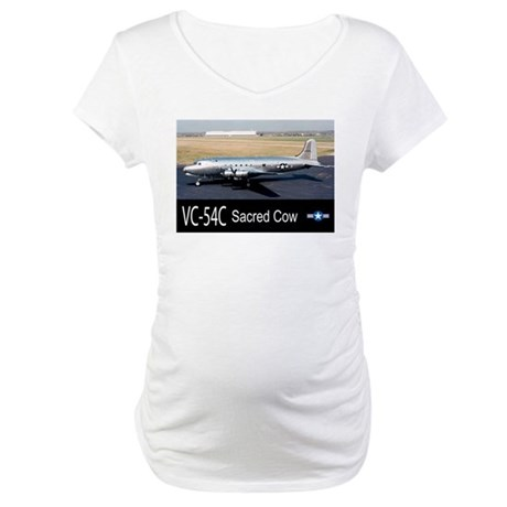 VC-54C Sacred Cow Aircraft Maternity T-Shirt