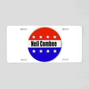 Neil Combee Aluminum License Plate