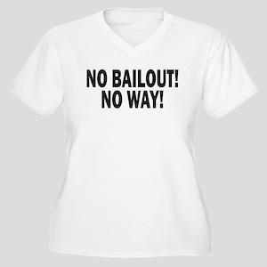 No bailout! Women's Plus Size V-Neck T-Shirt