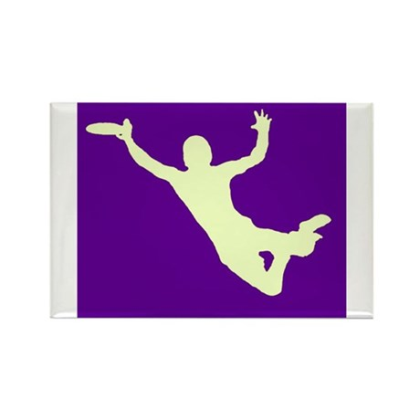 PURPLE YELLOW DISC CATCH Rectangle Magnet (10 pack