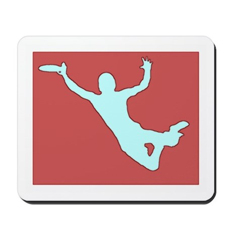 CHALK RED WHITE DISC CATCH Mousepad