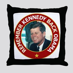 JFK Color Image Throw Pillow