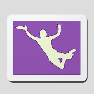 CHALK PURPLE CREAM DISC CATCH Mousepad