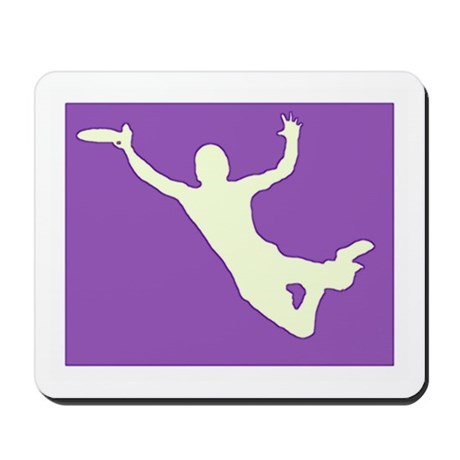 CHALK PURPLE CREAM DISC CATCH Mousepad
