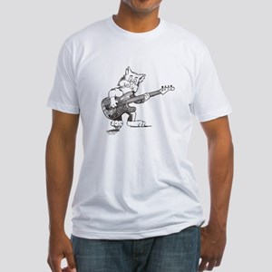 Catoons™ Bass Guitar Cat Fitted T-Shirt
