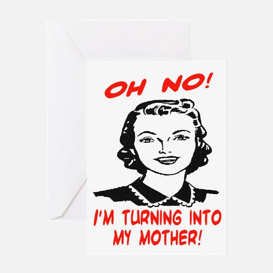 Funny 30th birthday funny 30th birthday greeting cards cafepress turning into my mother greeting card bookmarktalkfo Choice Image