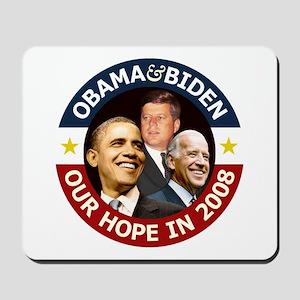 JFK Obama Biden 2008 Mousepad