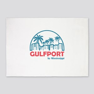 Mississippi - Gulfport 5'x7'Area Rug
