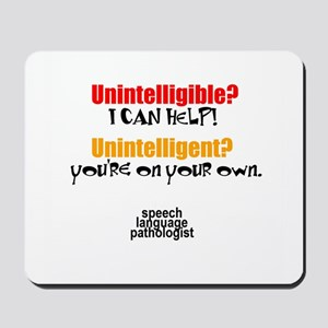 INTELLIGIBLE vs. INTELLIGENT Mousepad