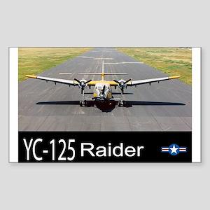 YC-125 Raider Transport Aircraft Sticker (Rectangl