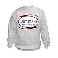 VolleyChick Lady Canes Spirit Gear Kids Sweatshirt