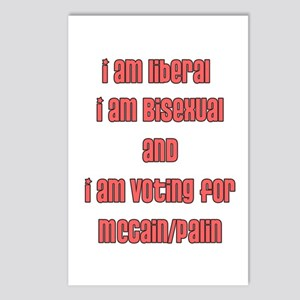 I am a bi liberal for McCain/ Postcards (Package o