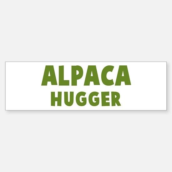 Alpaca Hugger Bumper Bumper Bumper Sticker