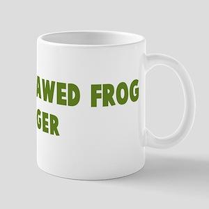 African Clawed Frog Hugger Mug