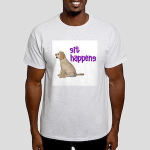 Sit Happens Ash Grey T-Shirt