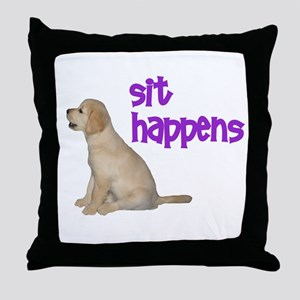 Sit Happens Throw Pillow