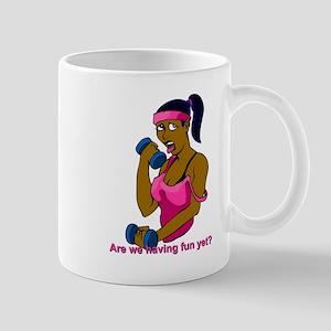 fitness - African American woman Mug