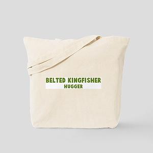 Belted Kingfisher Hugger Tote Bag