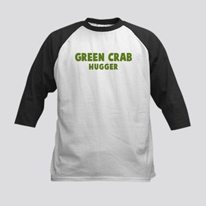 Green Crab Hugger Kids Baseball Jersey