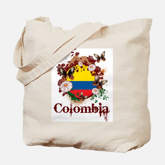 Butterfly Colombia Tote Bag