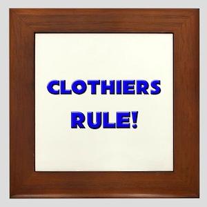 Clothiers Rule! Framed Tile