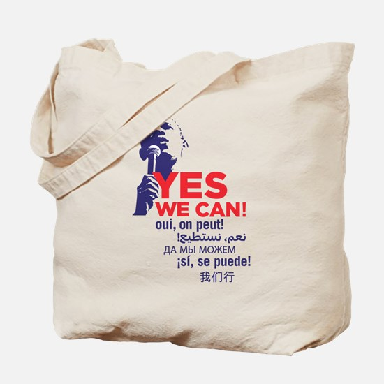 """Obama """"Yes We Can"""" Global Languages Tote Bag"""