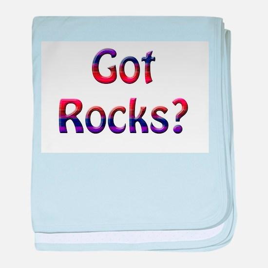 Got Rocks? baby blanket