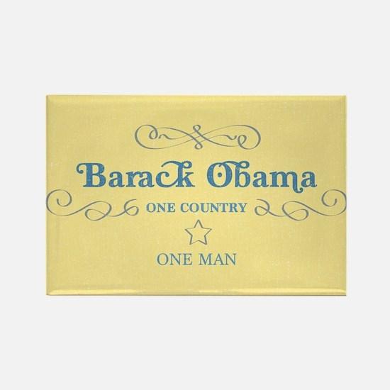Obama One Man Rectangle Magnet