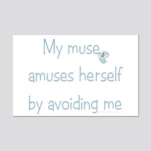 Muse Abuse Blue 3 Mini Poster Print