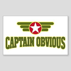 Captain Obvious - Rectangle Sticker