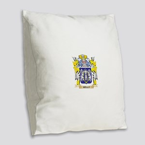 Kelly Coat of Arms - Family Cr Burlap Throw Pillow