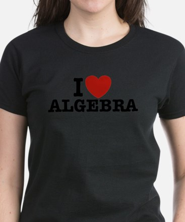 I Love Algebra Women's Dark T-Shirt