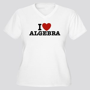 I Love Algebra Women's Plus Size V-Neck T-Shirt