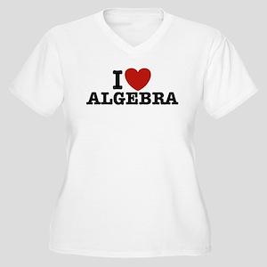 I Love Algebra Women's Plus Size V-Neck T-Shirt