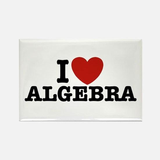 I Love Algebra Rectangle Magnet