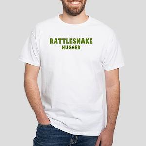 Rattlesnake Hugger White T-Shirt