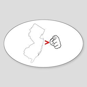 NJ > U Oval Sticker