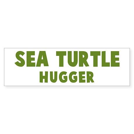 Sea Turtle Hugger Bumper Sticker