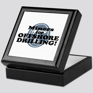Miners For Offshore Drilling Keepsake Box