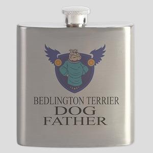 Bedlington Terrier Dog Father Flask