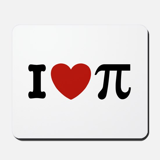 I Love Pi Mousepad