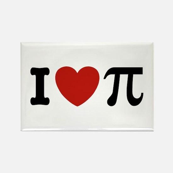 I Love Pi Rectangle Magnet