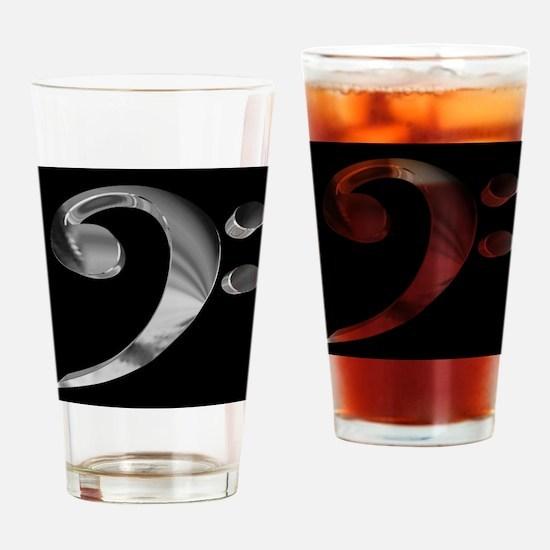 GrandRoyalBassClefDeepPlat.jpg Drinking Glass