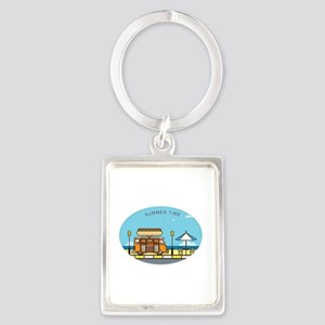 Eats at the Beach TEXT SUMMERTIME Keychains