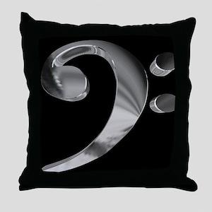 GrandRoyalBassClefDeepPlat Throw Pillow