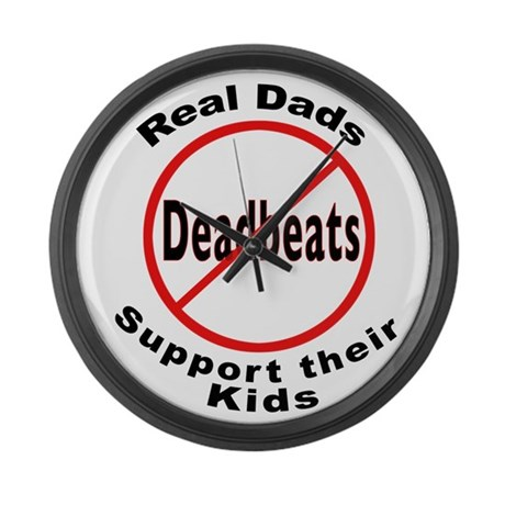 REAL DADS Large Wall Clock